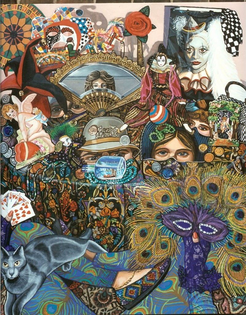Martigras Masquerade Acrylics on canvas
