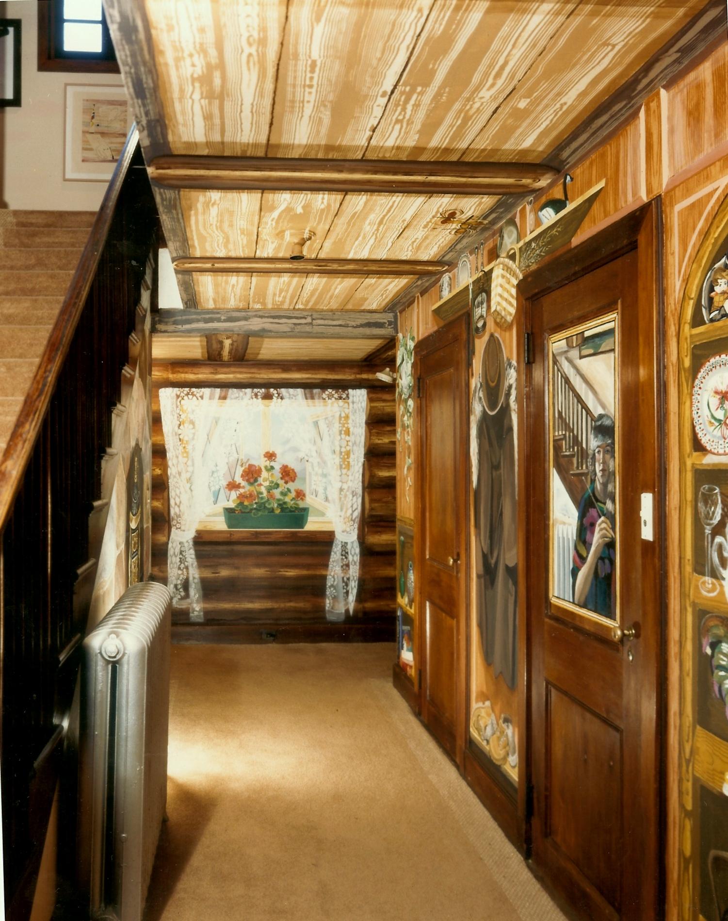 Alpine Chalet Mural For Back Hallway Of Chelsea Mansion In