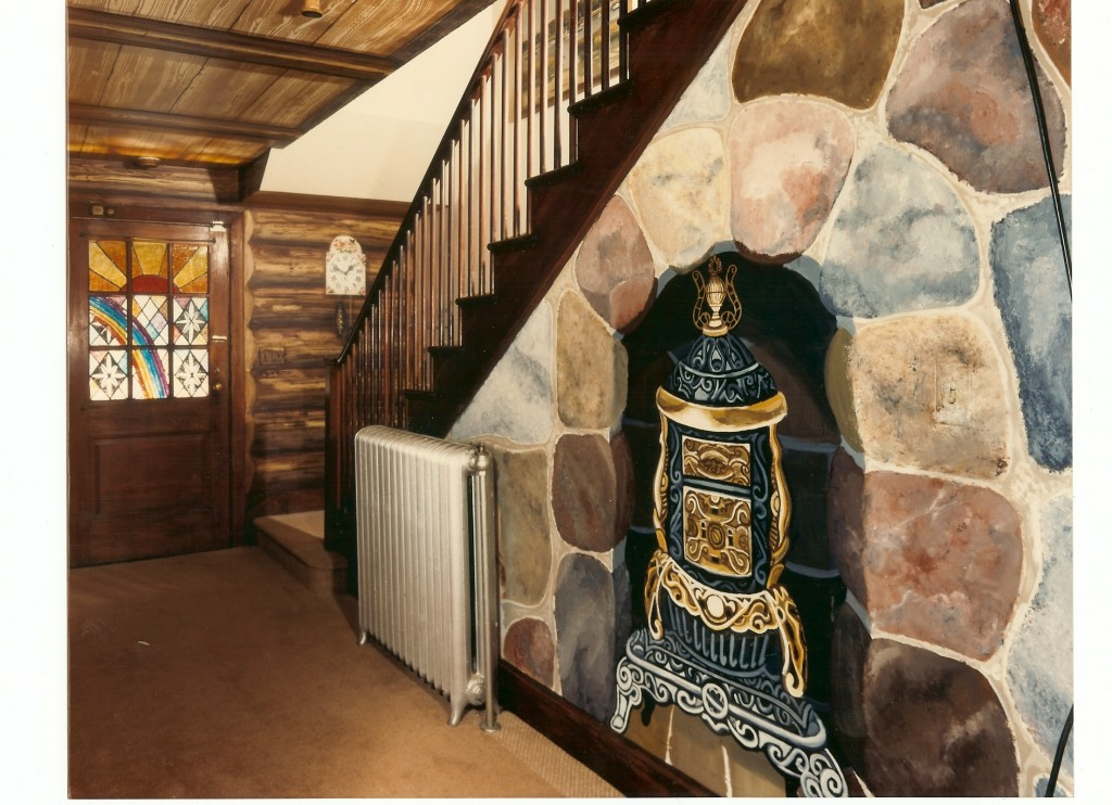 After shot. Stairwell wall. Chelsea Designer Showcase