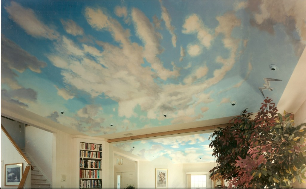 Ceiling mural for livingroom. Oyster Bay, NY