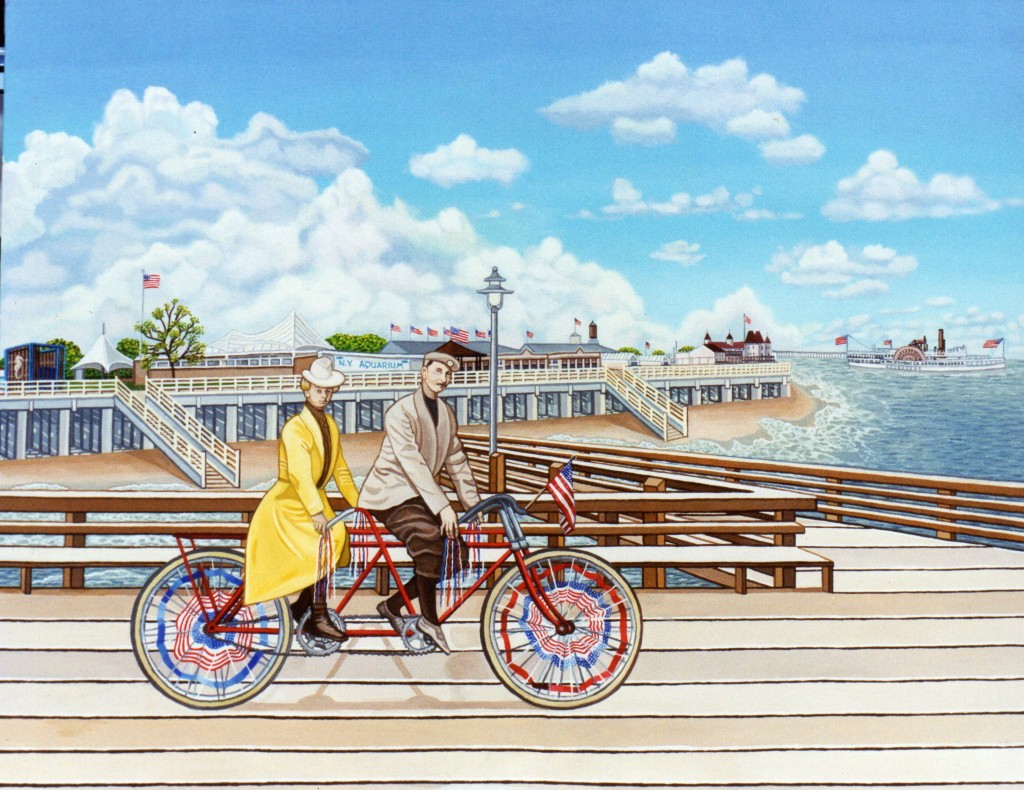 Coney Island bicycle built for 1