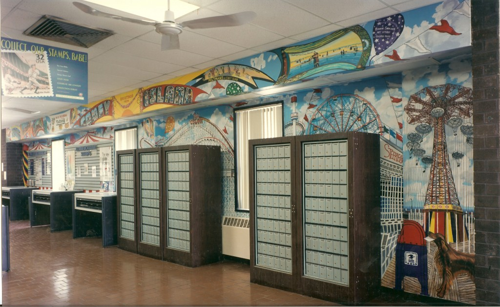 Coney Island mural for Coney Island Post Office.