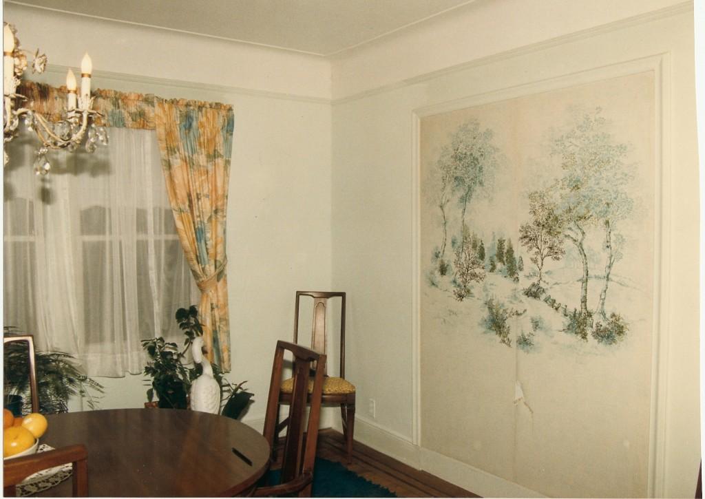 Diningroom mural befoe shot. Pt. Washington, NY