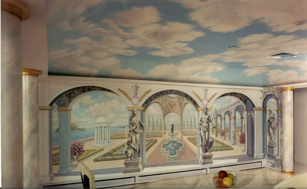 Diningroom mural. West Islip, NY