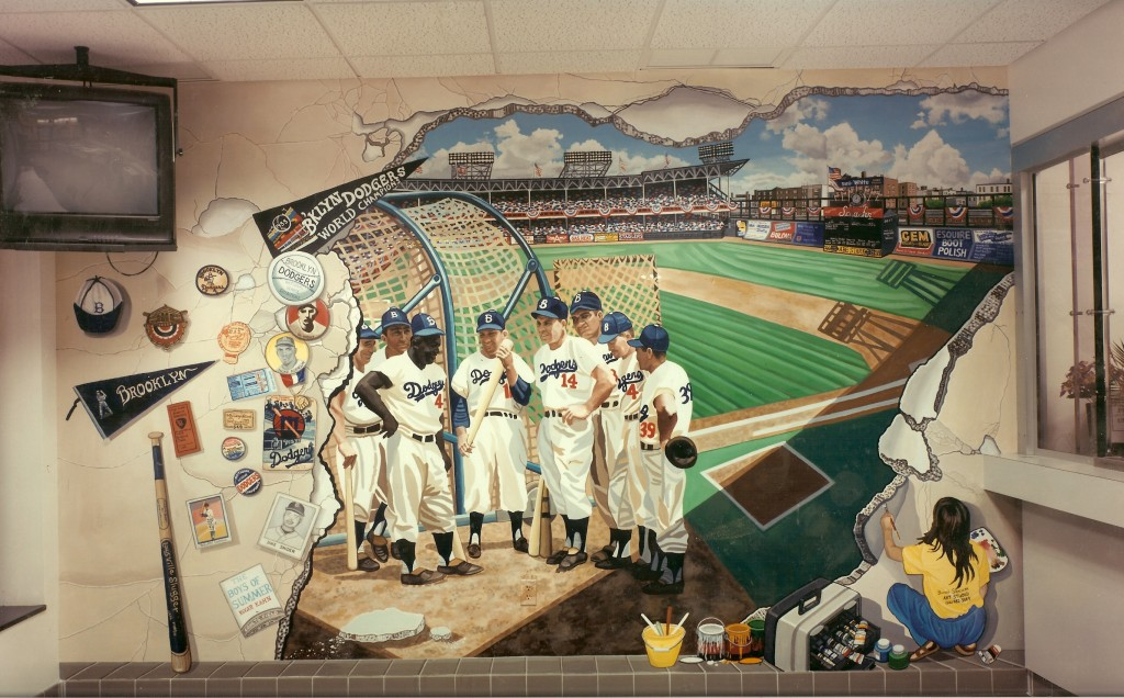 Ebbets Field Mural for Ryder Retail Station P.O.