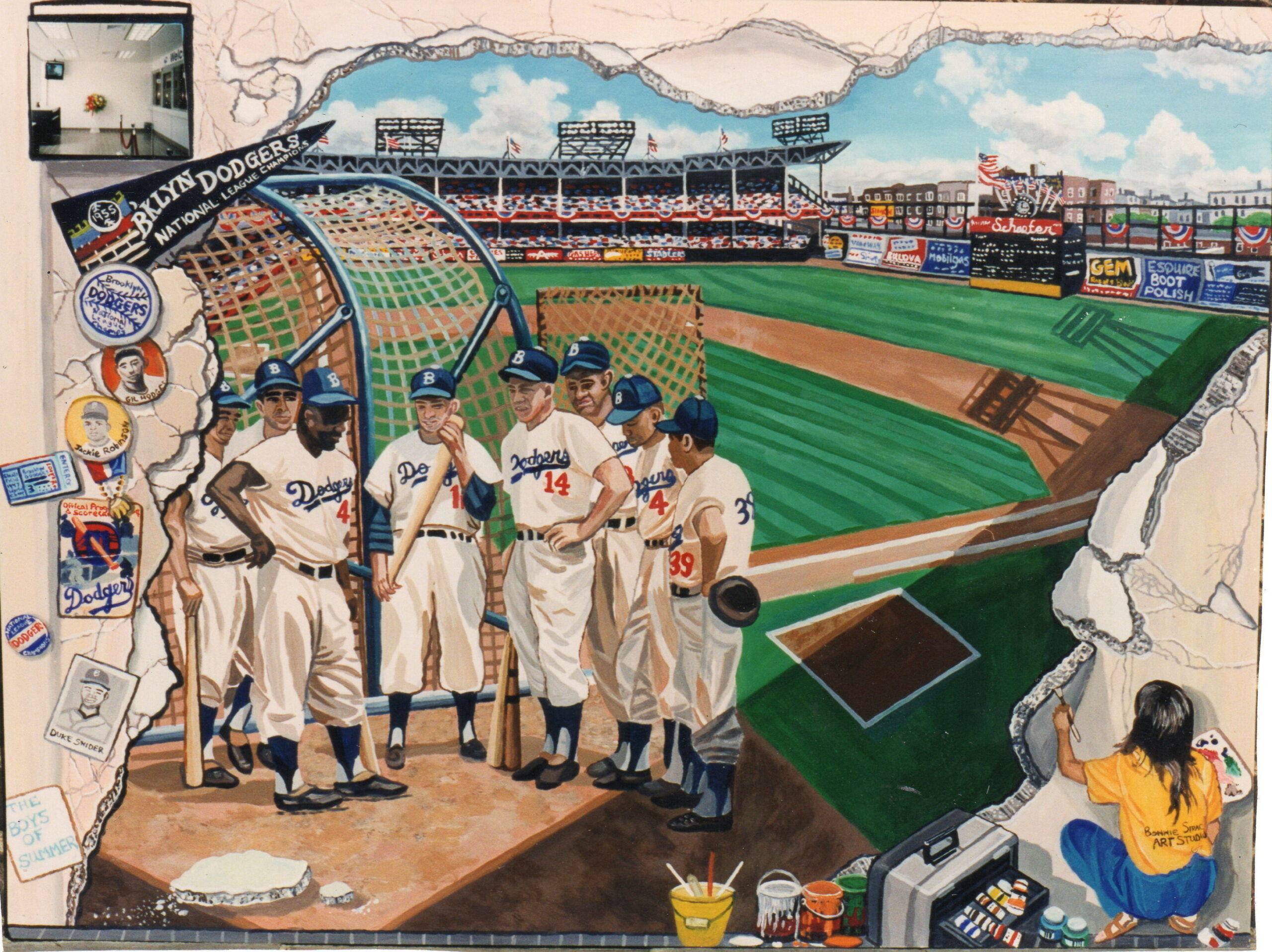 bonnie siracusa murals fine art ebbets field mural for ryder retail station p o final rendering