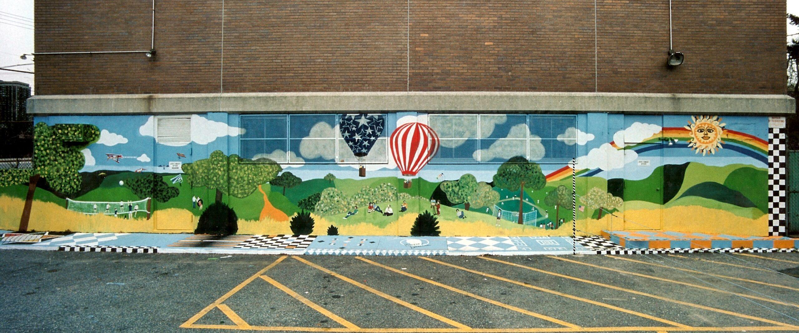 Bonnie siracusa murals fine art for Exterior wall mural