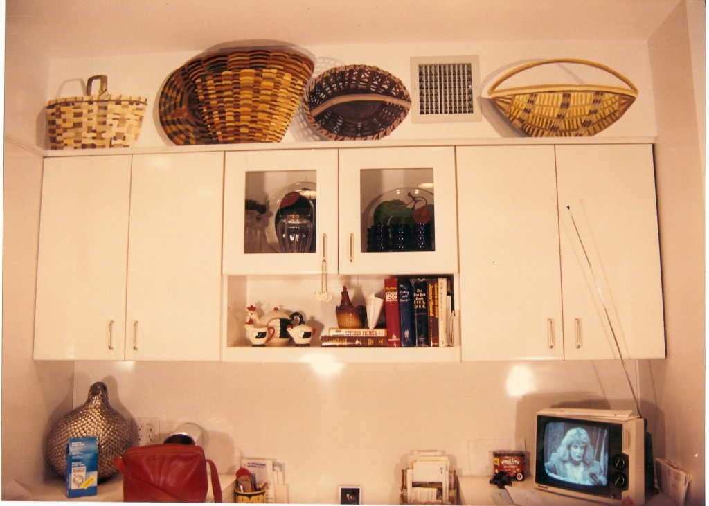 Faux baskets on opposite wall of kitchen. North Bellmore, NY