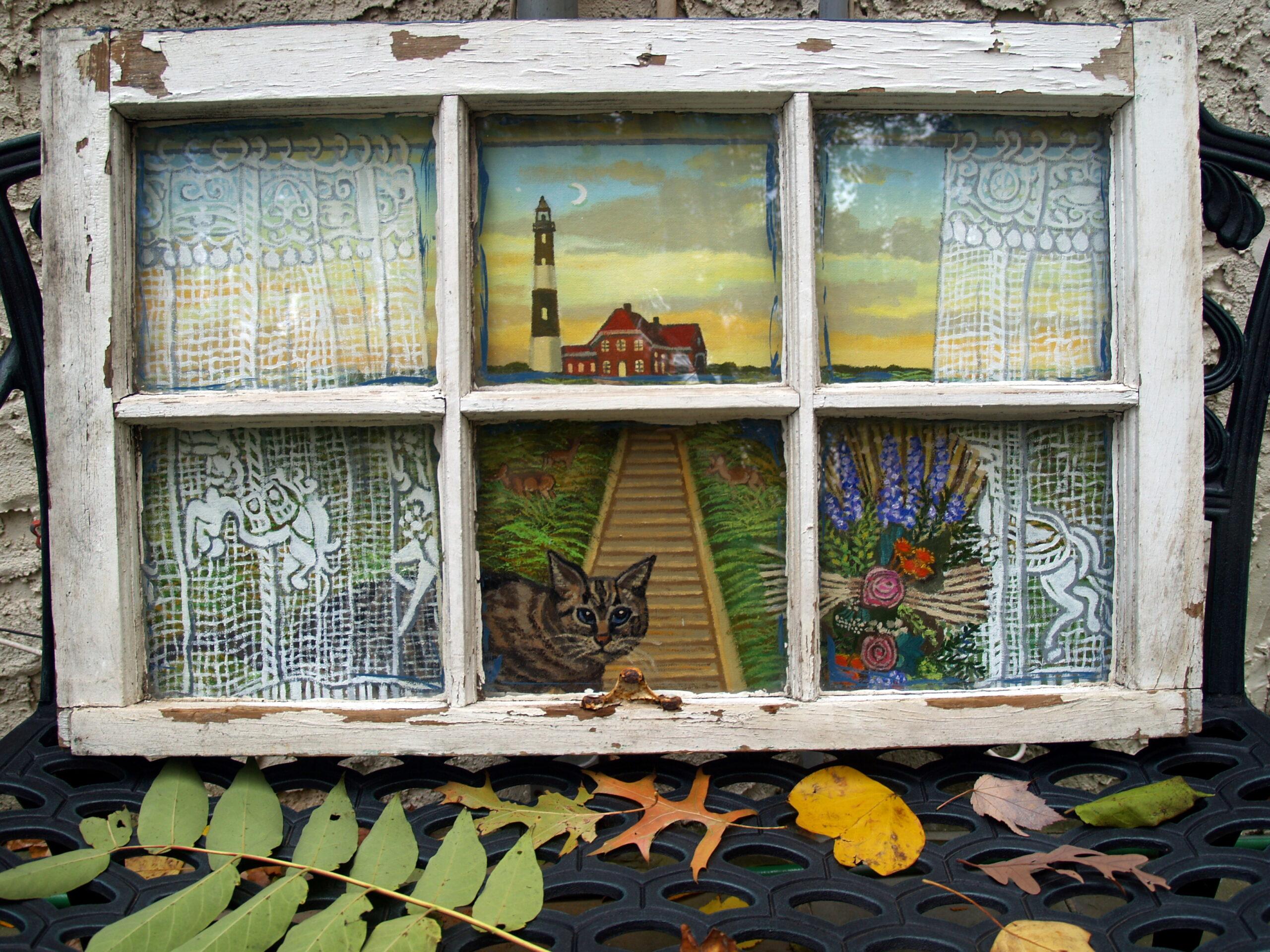 Fire Island Light House Acrylics On Canvas In An Old