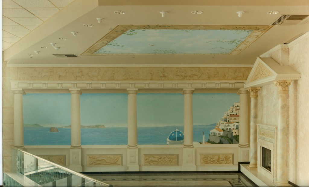 Mural for upstairs hallway of Sand Castle Caterers