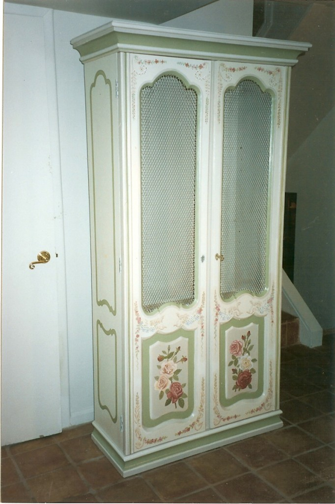 Painted armoire. Manhasset, NY
