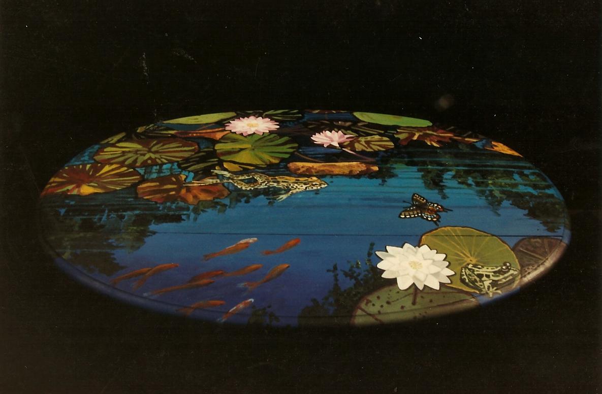 Coffee Table Painting Bonnie Siracusa Murals Fine Art