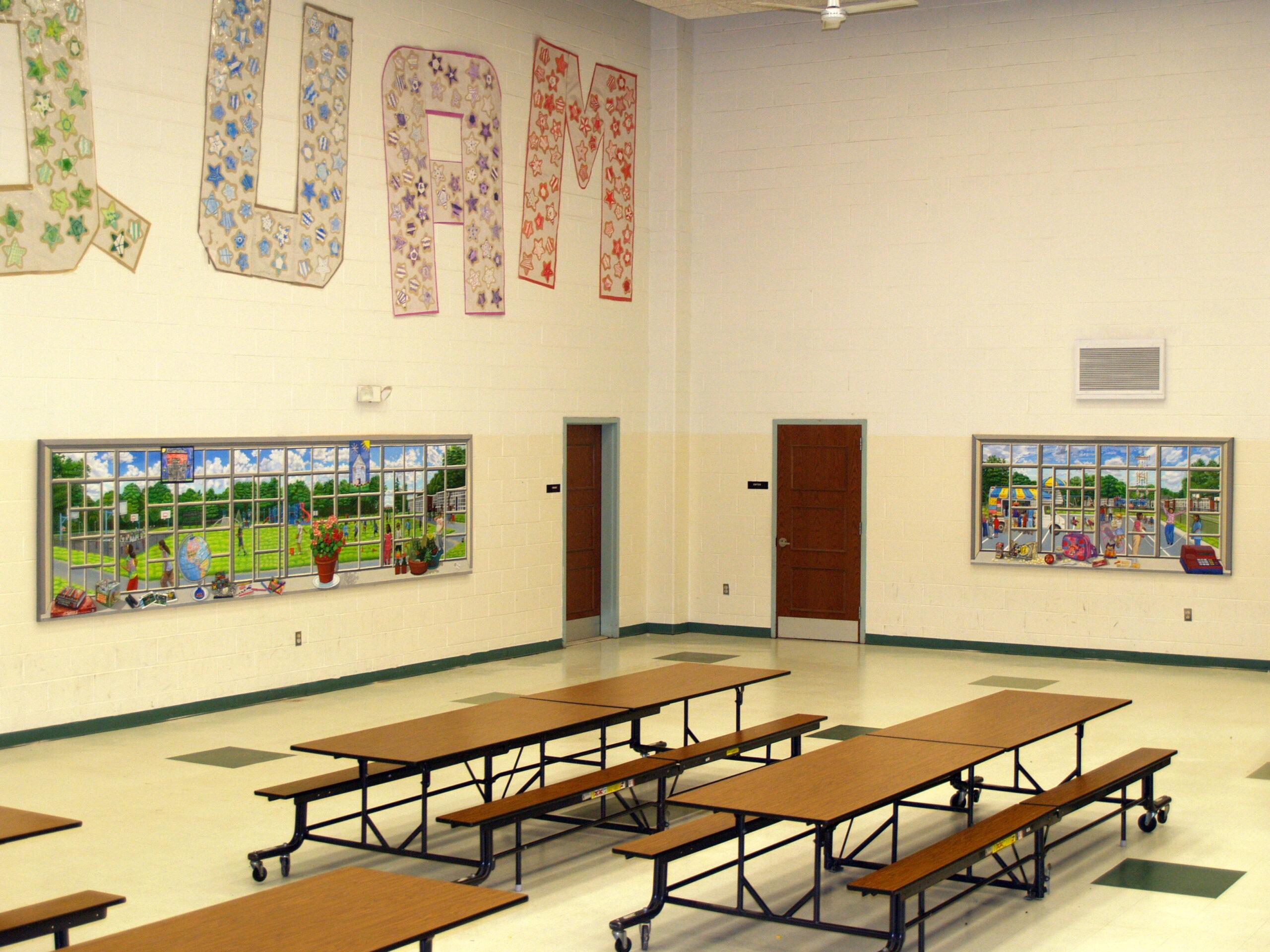 Bonnie siracusa murals fine art for Elementary school mural