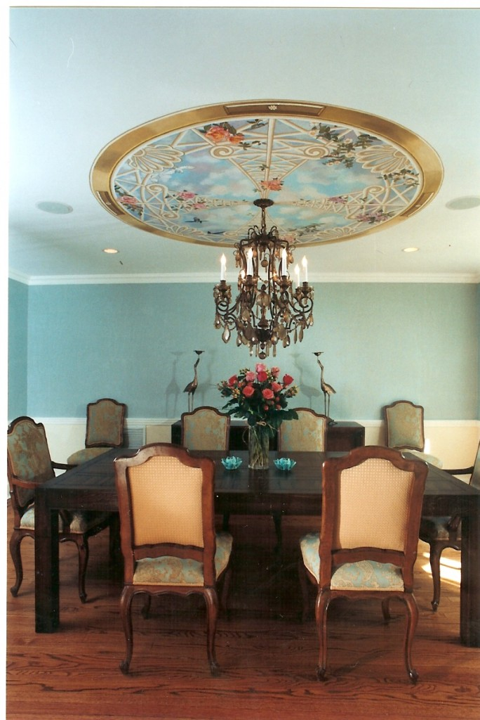 Diningroom ceiling skylight mural. Great Neck, NY