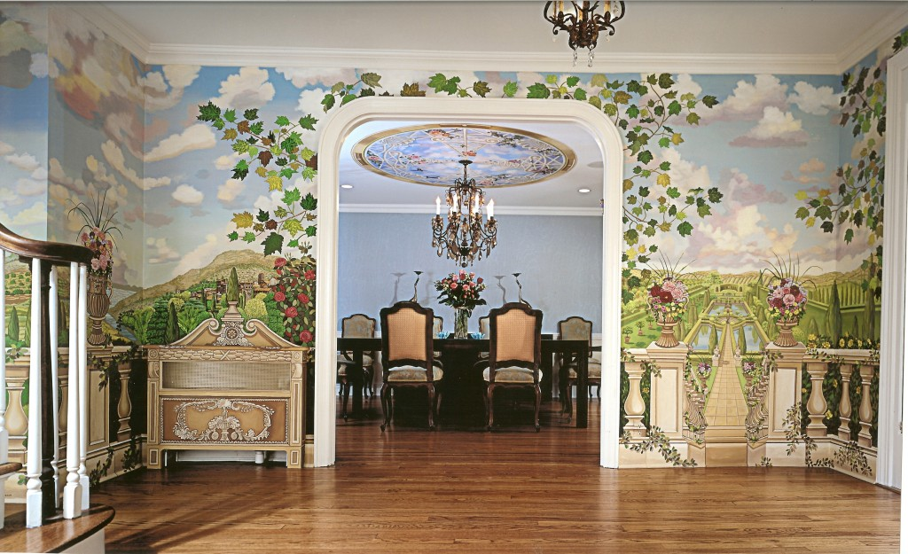 Tuscany mural for front hallway. Great Neck, NY