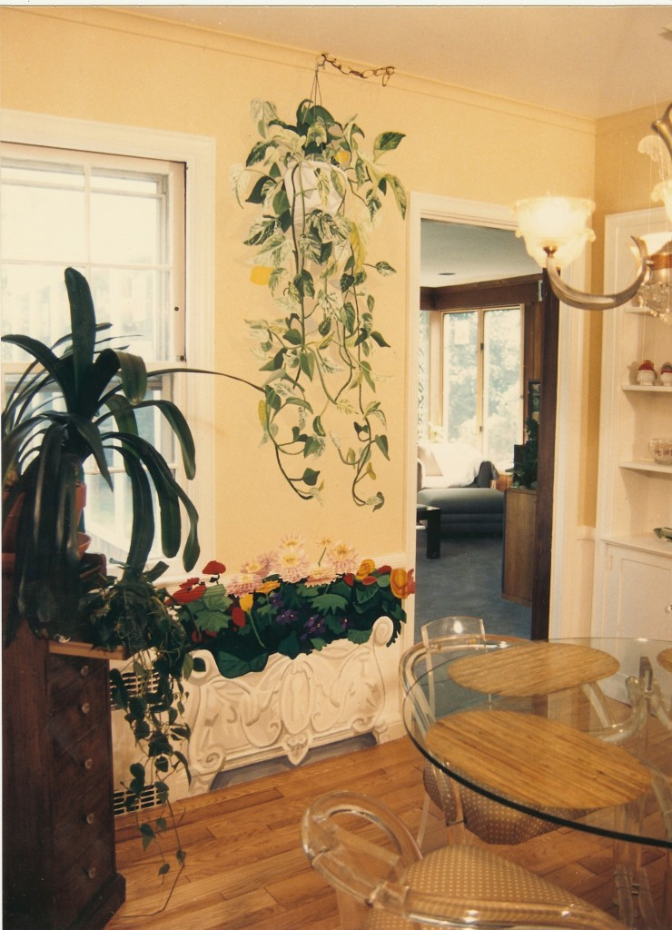 After shot, faux hanging plant and planter for dinette. North Woodmere, NY