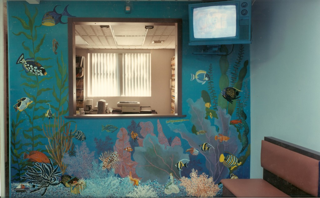 Aquarium  mural for Dr. Meyers office.