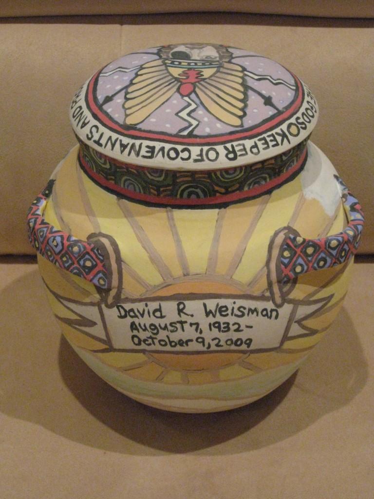 Ceramic Urn for David Weisman Back