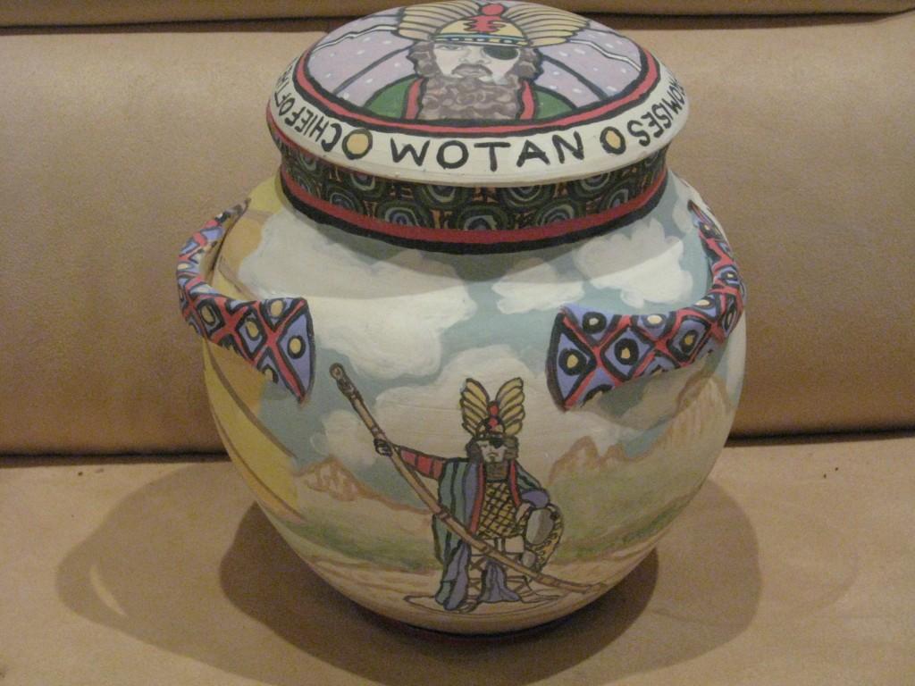 Ceramic Urn of David Weisman Front