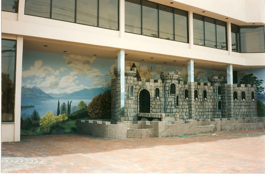 Exterior mural for side wall of Sandcastle Caterers