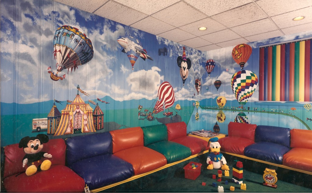 Hot Air Balloon Mural for Dr. Kunken's Office waiting room