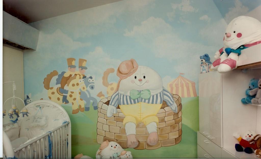 Humpty Dumpty mural for nursery. Great Neck, NY