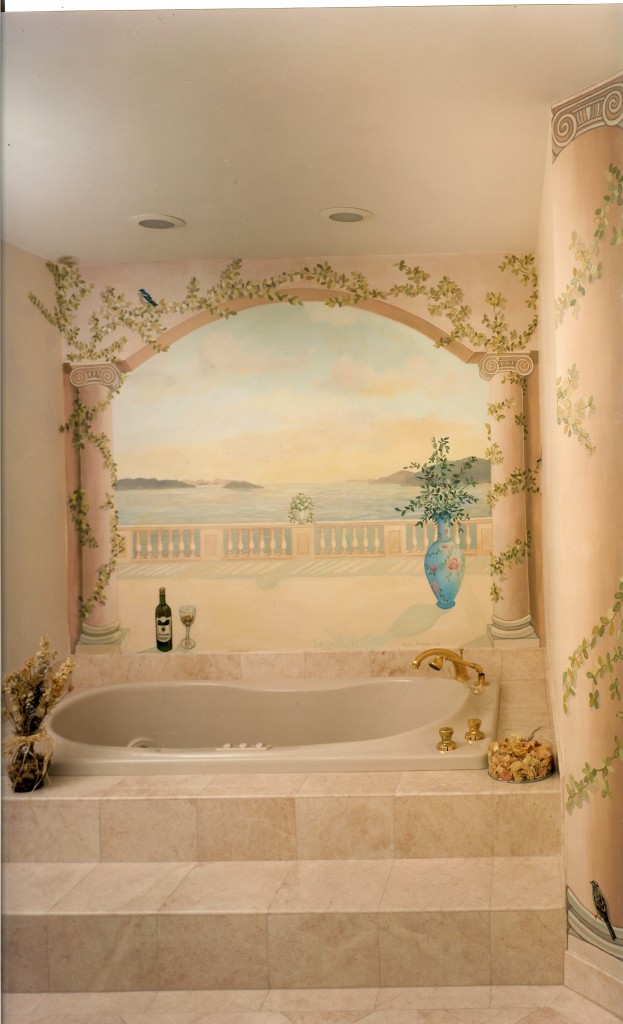 LI sound mural for master bath.