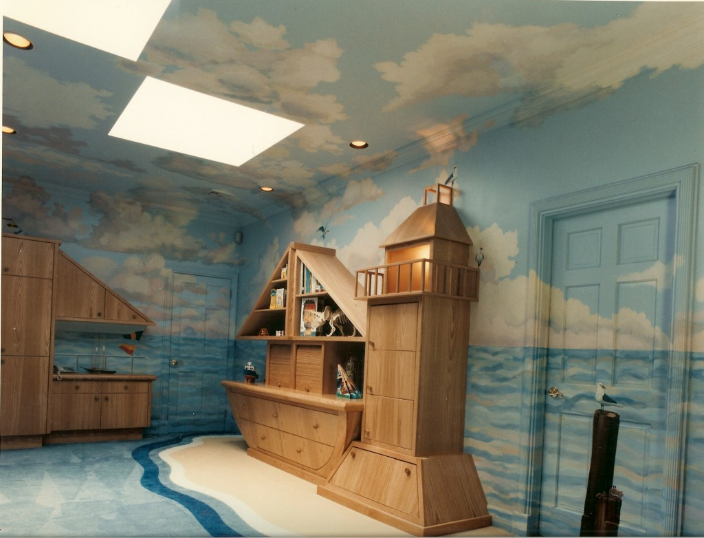 Marine mural for playroom. Opposite wall. Oyster Bay Cove, NY