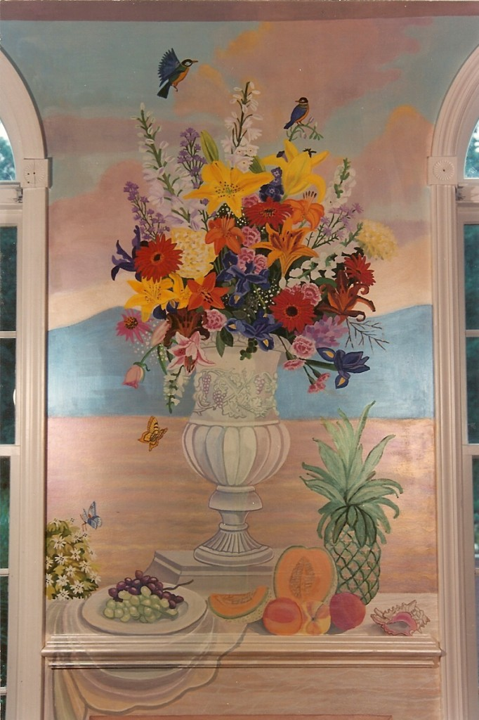 Ornamental vase with flowers