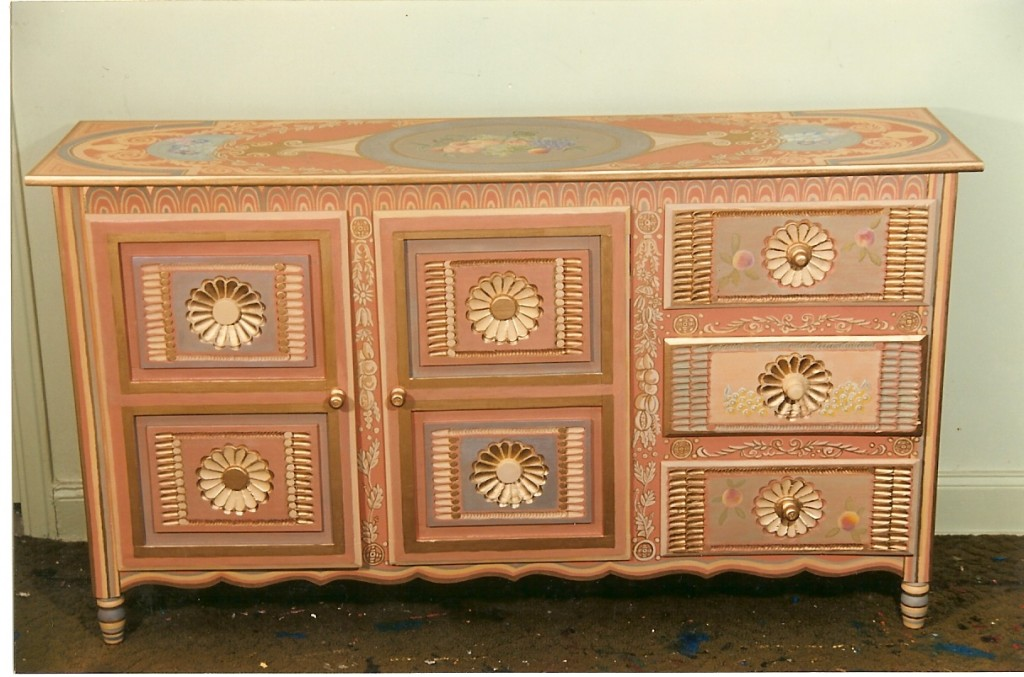 Painted mexican dresser NYC