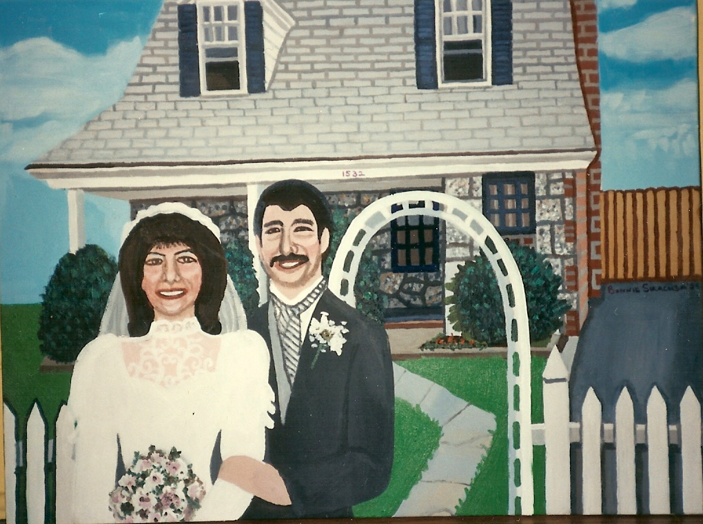 Rieff wedding portrait  Acrylics on canvas