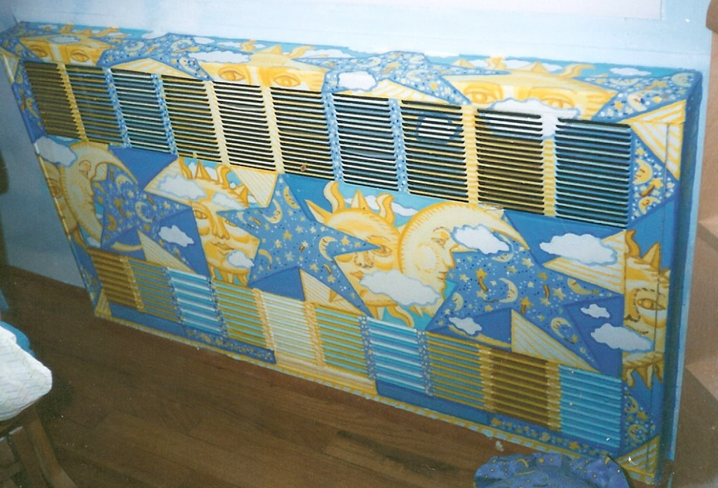 camouflaging radiator covers and pipes with murals0001