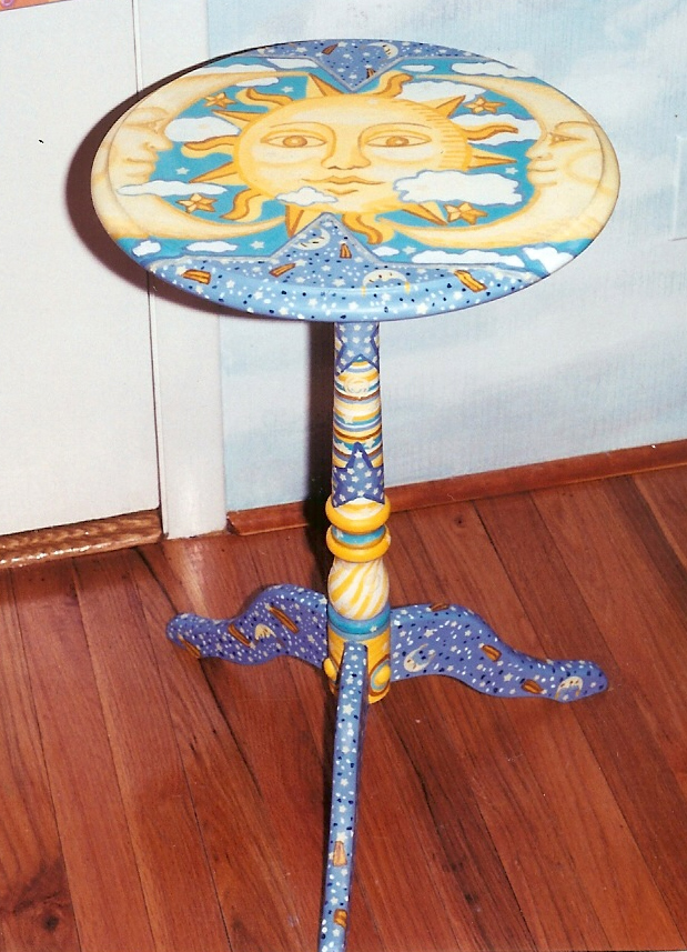matching table for celestial cloud mural for nursery. Syosset, NY-2