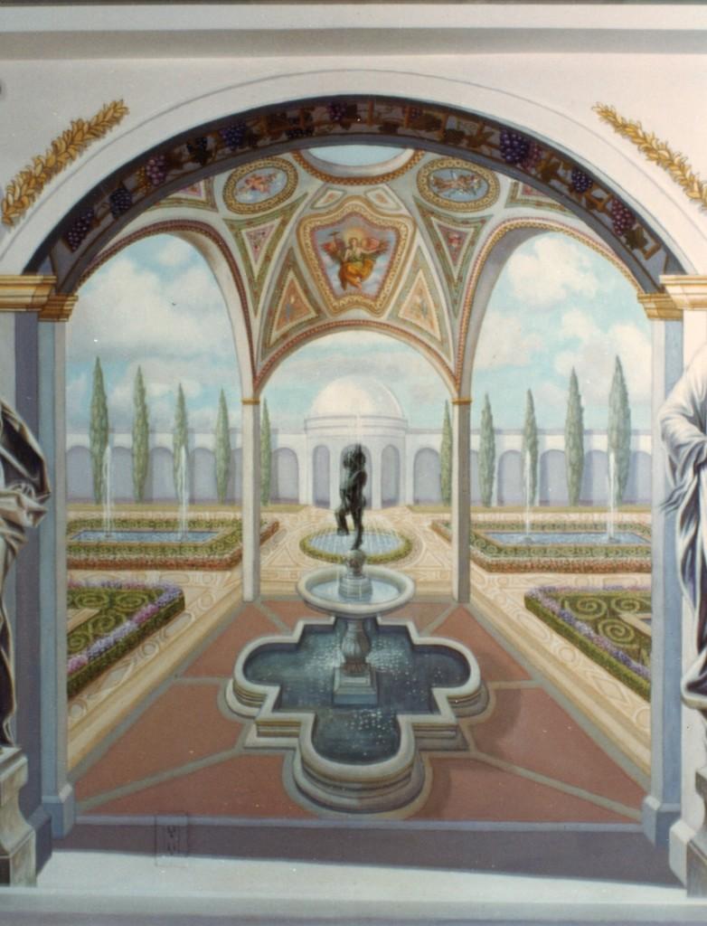 ornamental dome  over fountain