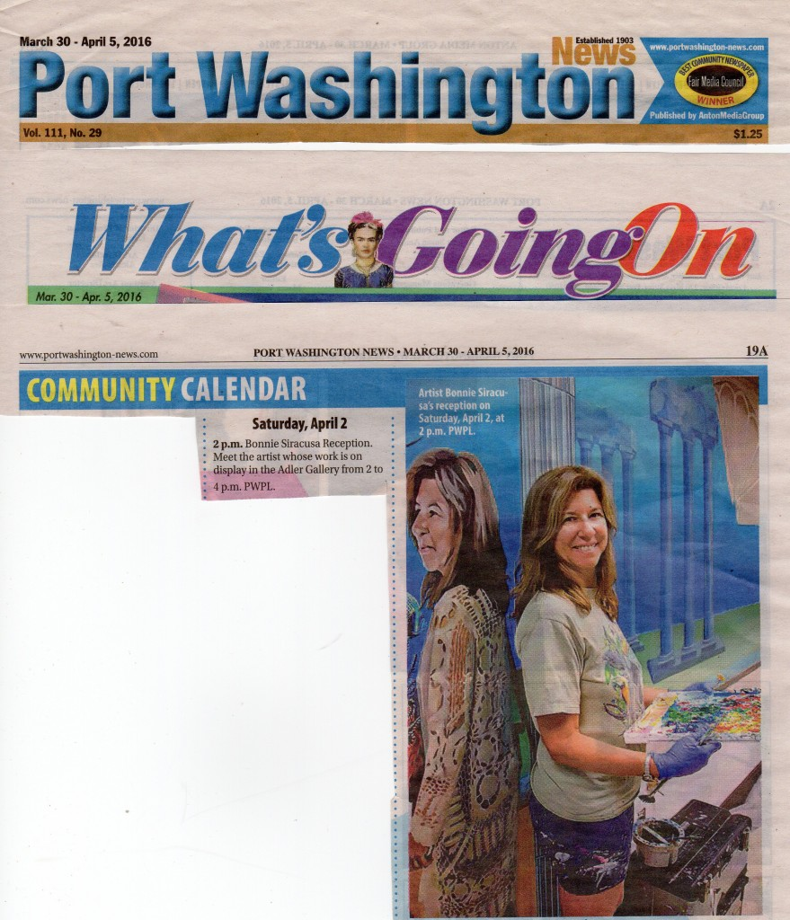 Port Washington Library Art Exhibition notice Pt. Washington News
